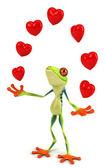 забавная лягушка — Стоковое фото
