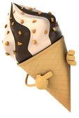 Chocolate icecream cone — Stock Photo