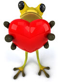 Frog with a heart — Stock Photo