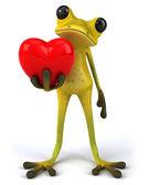 Żaba z sercem — Zdjęcie stockowe