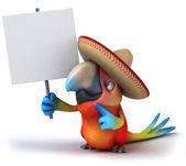 Zábava papoušek — Stock fotografie