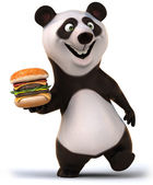 Fun panda — Stock Photo