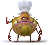 Germ chef — Stock Photo