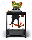 Running frog — Stock Photo