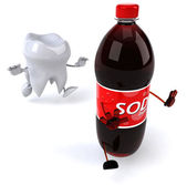 Tooth and soda — Foto de Stock