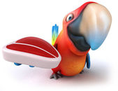 Fun parrot — Stock Photo