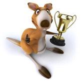 Kangaroo with a cup — Stockfoto