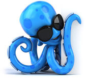 Blaue krake — Stockfoto