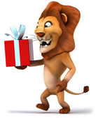 Fun lion illustration — Stock Photo
