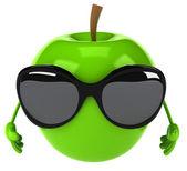 Fun apple illustration — Stock Photo