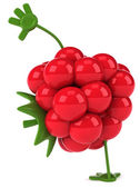 Fun Raspberry illustration — Stock Photo