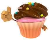 Fun Cupcake illustration — Stock Photo