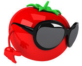 Tomato in sunglasses — Foto de Stock