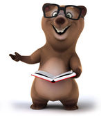 Bear with book — Stockfoto