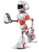 Robot with cloud — Stock Photo