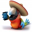 Fun parrot with smartphone — Stock Photo #48766449