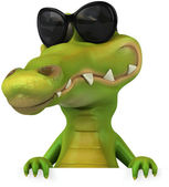 Crocodile in sunglasses — Stock Photo