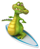 Crocodile surfing — Stock Photo