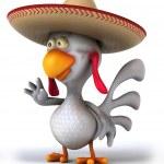 Chicken in sombrero hat — Stock Photo #48849289