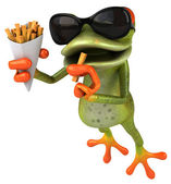 Frog 3d animated — Stockfoto