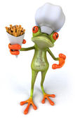 Frog 3d chef — Stock Photo
