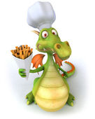 Dragon Chef 3d illustration — Stok fotoğraf