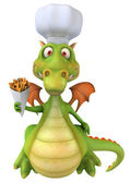 Dragon Chef 3d illustration — Zdjęcie stockowe