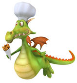 Dragon Chef 3d illustration — Stock fotografie