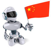 Robot with China flag — Stock Photo
