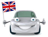 Car with Great Britain flag — Stock Photo