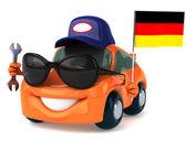 Samochód z niemiecką banderą — Zdjęcie stockowe