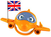 Plane with Great Britain flag — Stock Photo