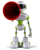 Robot with megaphone — Stock Photo