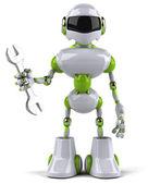 レンチでロボット — ストック写真