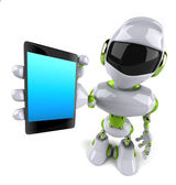 Robot with smartphone — Foto Stock