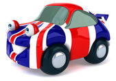 Car with Great Britain flag on it — Stock Photo