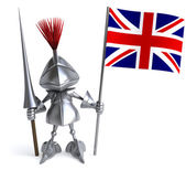 Knight with Great Britain flag — Stock Photo