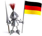 Knight with German flag — Stock Photo