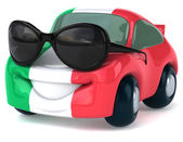 Car with Italian flag on it — Stock Photo