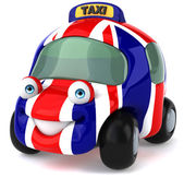 Car with Great Britain flag on it — Foto de Stock