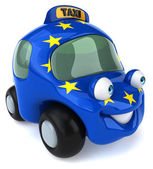 Car with European Union flag — Foto de Stock