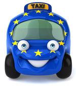 Carro com bandeira da união europeia — Foto Stock