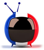 TV set with French flag on it — Stock Photo