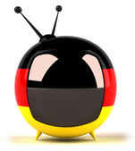 TV set with German flag on it — Stock Photo