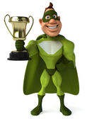 Superhero in green — Stock Photo