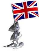 Knight with Great Britain flag — Foto de Stock
