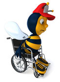 Bee in wheelchair — Stock Photo