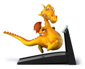 Dragon on treadmill — Stockfoto