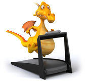 Dragon on treadmill — Stock Photo