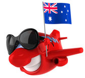 Plane with Australian flag — Stock Photo